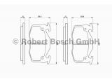 Комплект тормозных колодок, дисковый тормоз    Датчик износа: без датчика износа Толщина [мм]: 11 Ширина (мм): 105 Высота [мм]: 54,7 Тормозная система: Bosch