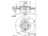 Тормозной диск  Диск тормозной AUDI 100 91>/A4 95>08/A6 95>05/VW PASSAT 97>00 пер  Тип тормозного диска: с внутренней вентиляцией Диаметр [мм]: 288 Толщина тормозного диска (мм): 25 Минимальная толщина [мм]: 23 Высота [мм]: 46,2 Диаметр центрирования [мм]: 68 Материал: бумага Количество отверстий: 5 Момент затяжки [Нм]: 12 Дополнительный артикул / Доп. информация 2: с винтами