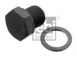 Резьбовая пробка, маслянный поддон  Болт поддона сливной M14x1.5mm с шайбой  Длина [мм]: 23,8 Внутренний диаметр: 14,4 Внешний диаметр [мм]: 19,8 Внешняя резьба [мм]: M 14 x 1,5 Ширина зева гаечного ключа: 19 Материал: сталь Длина [мм]: 16 Вес [кг]: 0,033 необходимое количество: 1