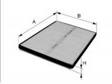 Фильтр, воздух во внутренном пространстве    Исполнение фильтра: Фильтр из активированного угля