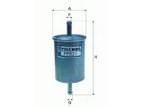 Топливный фильтр  Фильтр топливный CHEVROLET AVEO 1.2-1.4  Высота [мм]: 144 Внешний диаметр [мм]: 59 Исполнение фильтра: Прямоточный фильтр Впускн. Ø [мм]: 8 Выпускн.-Ø [мм]: 8