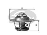 Термостат, охлаждающая жидкость  Термостат 406 1.6-2.0 96-04/BOXER 2.0 96-  Температура открытия [°C]: 82