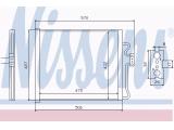 Конденсатор, кондиционер  Радиатор кондиционера BMW E38 2.8-5.0/2.5 TDS 94-02  Материал: алюминий