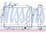Радиатор, охлаждение двигател  Радиатор двигателя HYUNDAI H100 2.5D/2.5TD 93-00  Материал: алюминий Материал: полимерный материал Вид коробки передач: механическая коробка передач Оснащение / оборудование: для транспортных средств с/без кондиционером для оригинального номера: 25300-4B000 для оригинального номера: 25300-4B100