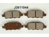 Комплект тормозных колодок, дисковый тормоз  Колодки тормозные NISSAN X-TRAIL 01>07/QASHQAI 07>/INFINITI FX35/  Толщина [мм]: 14,3 Высота [мм]: 38,1 Длина [мм]: 105,5