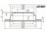 Тормозной диск  Диск торм. ISUZU TROOPER/MONTEREY 3.0-3.5TD 98- зад. вент.  Диаметр [мм]: 313 Высота [мм]: 80,3 Тип тормозного диска: с внутренней вентиляцией Толщина тормозного диска (мм): 18 Минимальная толщина [мм]: 16,6 Количество отверстий: 6 Ø фаски 2 [мм]: 140 Динамика тормоза / движения: для противоблокировочного устройства Диаметр ступицы [мм]: 222 Диаметр центрирования [мм]: 101