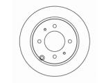 Тормозной диск  Диск тормозной HYUNDAI SONATA EF/MATRIX/KIA MAGENTIS зад.  Диаметр [мм]: 262 Высота [мм]: 61 Тип тормозного диска: полный Толщина тормозного диска (мм): 10,0 Минимальная толщина [мм]: 8,4 Диаметр центрирования [мм]: 76 Число отверстий в диске колеса: 4