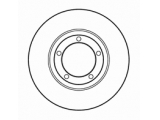 Тормозной диск  Диск тормозной HYUNDAI H 100 93> передний вент.  Диаметр [мм]: 253 Высота [мм]: 28,6 Тип тормозного диска: вентилируемый Толщина тормозного диска (мм): 20,0 Минимальная толщина [мм]: 18,4 Диаметр центрирования [мм]: 84 Число отверстий в диске колеса: 5