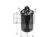 Топливный фильтр  Фильтр топливный AUDI A4/A6/A8 2.5TDI 7/97-  Внешний диаметр [мм]: 81,5 Впускн. Ø [мм]: 12 Выпускн.-Ø [мм]: 12 Высота [мм]: 135