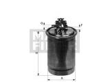Топливный фильтр  Фильтр топливный AUDI A6 2.7-3.0 TDI  Внешний диаметр [мм]: 76 Впускн. Ø [мм]: 10 Выпускн.-Ø [мм]: 10 Высота [мм]: 188