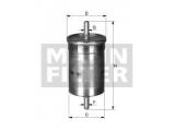 Топливный фильтр  Фильтр топливный AUDI A6 2.0D 08-  Внешний диаметр [мм]: 55 Впускн. Ø [мм]: 9 Выпускн.-Ø [мм]: 11 Высота [мм]: 248