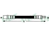Тормозной шланг  Шланг тормозной зад.4WD A4 95-01  Длина [мм]: 240 для артикула №: 6T46881 Размер резьбы 1: F 10 X 1 Размер резьбы 2: M 10 X 1