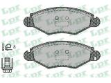 Комплект тормозных колодок, дисковый тормоз  Колодки тормозные PEUGEOT 206/206SW 01>(-ABS) передние  Толщина [мм]: 18 Ширина (мм): 131 Высота [мм]: 47,5 для артикула №: 05P903