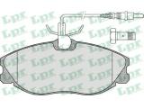 Комплект тормозных колодок, дисковый тормоз  Колодки тормозные CITROEN XSARA/PEUGEOT 406/607 передние  Толщина [мм]: 19 Ширина (мм): 130 Высота [мм]: 56,6 Количество датчиков износа: 4 для артикула №: 05P620 Длина предупреждающего контакта [мм]: 310