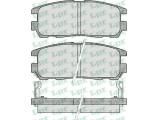 Комплект тормозных колодок, дисковый тормоз  Колодки тормозные ISUZU TROOPER 91>/OPEL FRONTERA A/B/MONTEREY A/  Толщина [мм]: 15,8 Ширина (мм): 109,6 Высота [мм]: 42,5 Количество датчиков износа: 2 для артикула №: 05P524