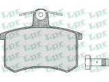 Комплект тормозных колодок, дисковый тормоз  Колодки тормозные А100 82>/A4 95>97/A6 95>97/FIAT CROMA 85>96 зад  Толщина [мм]: 16,5 Ширина (мм): 87 Высота [мм]: 66,8 для артикула №: 05P215