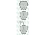 Комплект тормозных колодок, дисковый тормоз  Колодки тормозные AUDI A6/A8 96-05 передние 8шт.с датчиком  Толщина [мм]: 17,5 Количество датчиков износа: 2 Высота 1 [мм]: 74,6 Высота 2 [мм]: 75,3 для артикула №: 05P1121 Ширина 1 [мм]: 78 Ширина 2 [мм]: 63,3 Количество тормозных колодок: 8