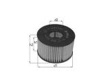 Масляный фильтр  Фильтр масляный VW GOLF/JETTA/PASSAT 05-/AUDI A3/SKODA OCTAVIA 03  Высота 1 [мм]: 60 Внешний диаметр [мм]: 65