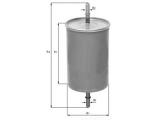 Топливный фильтр  Фильтр топливный CHEVROLET AVEO 1.2-1.4  Высота [мм]: 147 Высота [мм]: 77,6 диаметр 2 (мм): 7,9 диаметр 3 (мм): 7,9 Внешний диаметр [мм]: 54,7