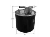 Топливный фильтр  Фильтр топливный AUDI A6 2.7-3.0 TDI  Высота [мм]: 188 Высота [мм]: 210,4 диаметр 2 (мм): 10 Внешний диаметр [мм]: 76,3
