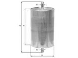 Топливный фильтр  Фильтр топливный OPEL/ISUZU/CITROEN  диаметр 2 (мм): 8 диаметр 3 (мм): 8 Внешний диаметр [мм]: 55