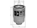 Топливный фильтр  Фильтр топливный MITSUBISHI PAJERO/L200 2.5D/HYUNDAI PORTER/H-1 2  Диаметр [мм]: 93 Высота [мм]: 135 Размер резьбы: M20x1,5 диаметр 2 (мм): 72 диаметр 3 (мм): 62 Исполнение фильтра: Накручиваемый фильтр