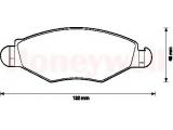 Комплект тормозных колодок, дисковый тормоз  Колодки тормозные PEUGEOT 206 98-/306 94-02 передние  Сторона установки: передний мост Качество: 197 проверочное значение: ECE-R90 Ширина (мм): 132 Высота [мм]: 48 Толщина [мм]: 18 Дополнительный артикул / Дополнительная информация: с аксессуарами Тормозная система: Bosch