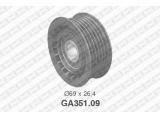 Паразитный / ведущий ролик, поликлиновой ремень  Ролик ремня приводного AUDI A6/A8/MB W202/210/SPRINTER  Диаметр [мм]: 69 Ширина (мм): 26,4