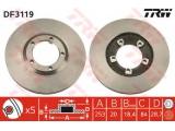 Тормозной диск  Диск тормозной HYUNDAI H 100 93> передний вент.  Тип тормозного диска: вентилируемый Диаметр [мм]: 253 Толщина тормозного диска (мм): 20 Минимальная толщина [мм]: 18,4 Диаметр центрирования [мм]: 84 Высота [мм]: 28,7 Количество отверстий: 5 Размер резьбы: 10,5 Ø фаски 2 [мм]: 104
