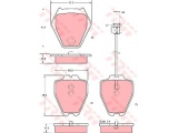 Комплект тормозных колодок, дисковый тормоз  Колодки тормозные AUDI A4/A6/VOLKSWAGEN PASSAT 97-05 передние 8шт  ограничение производителя: TRW Датчик износа: вкл. датчик износа проверочное значение: E9 90R 01107/378 Высота [мм]: 75,5 Длина [мм]: 63,5 Толщина [мм]: 17,5