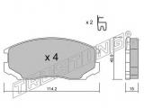 Комплект тормозных колодок, дисковый тормоз    Тормозная система: Sumitomo Ширина (мм): 114,2 Высота [мм]: 49,9 Толщина [мм]: 15 Датчик износа: с звуковым предупреждением износа проверочное значение: ECE R90 APPROVED
