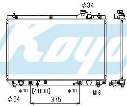 RX300 {TY Highlander 01- /Harier/Kluger} РАДИАТОР ОХЛАЖДЕН AT 3 (1 ряд) на Toyota Highlander 1 (Тойота Хайлендер 1) 2001-2007 - цена, наличие, описание