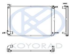 RX300 {Hibryd / HIGHLANDER 05-} РАДИАТОР ОХЛАЖДЕН AT 3.3 (KOYO) на Toyota Highlander 1 (Тойота Хайлендер 1) 2001-2007 - цена, наличие, описание