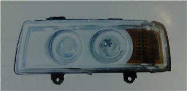 AUDI 80 ФАРА ЛЕВ ТЮНИНГ ЛИНЗОВАН С УК.ПОВОР ВНУТРИ ХРОМ на Audi 80, 90 B3 (Ауди б3) - цена, наличие, описание