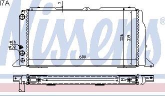 AUDI 80 РАДИАТОР ОХЛАЖДЕН (NISSENS) (NRF) (GERI) (см.каталог) на Audi 80, 90 B3 (Ауди б3) - цена, наличие, описание