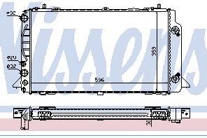 AUDI 80 РАДИАТОР ОХЛАЖДЕН (NISSENS) (NRF) (GERI) (см.каталог) на Audi 80, 90 B4 (Ауди б4) - цена, наличие, описание