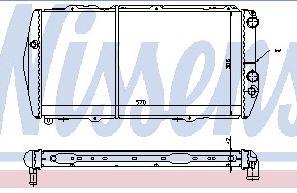 AUDI 100 {200 79-88} РАДИАТОР ОХЛАЖДЕН (NISSENS) (NRF) (GERI) (см.каталог) на Audi 100 (8/82-11/90)   Ауди  100 (44, C3) - цена, наличие, описание