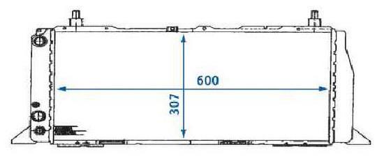 AUDI 100 {600mm X 309mm} РАДИАТОР ОХЛАЖДЕН 1.8 С КОНДИЦ на Audi 100 (8/82-11/90)   Ауди  100 (44, C3) - цена, наличие, описание