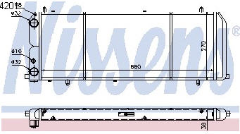 AUDI 100 РАДИАТОР ОХЛАЖДЕН (см.каталог) на Audi 100 (8/82-11/90)   Ауди  100 (44, C3) - цена, наличие, описание