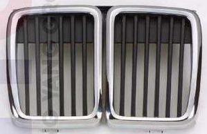 BMW E30 Решетка радиатора центральная часть (Ноздри) Хром-Черн на BMW e30 (БМВ е30) - цена, наличие, описание
