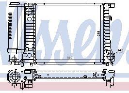 BMW E30 Радиатор охлаждения (NISSENS) (NRF) (GERI) (см.каталог) на BMW e30 (БМВ е30) - цена, наличие, описание
