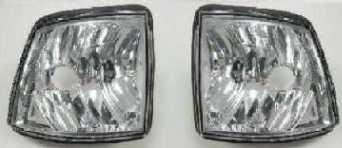 BMW Е32 Указатель поворота угловой левый+правый (КОМПЛЕКТ) тюнинг прозрачный хрустальный внутр. хром на BMW e32 (БМВ е32) - цена, наличие, описание