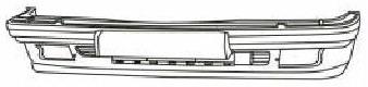 BMW E32 Бампер передний черный на BMW e32 (БМВ е32) - цена, наличие, описание