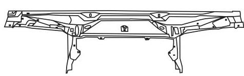 BMW E32 Балка суппорта радиатора верхняя на BMW e32 (БМВ е32) - цена, наличие, описание