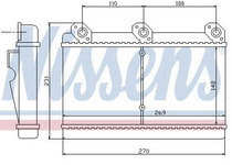 BMW E32 {E34 88-90 с кондиционером} Радиатор отопителя / печки (NISSENS) (см.каталог) на BMW e34 (БМВ е34) - цена, наличие, описание