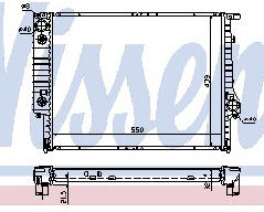 BMW E30 {E32 91-94/E34 92-93} Радиатор охлаждения  (NISSENS) (NRF) (GERI) (см.каталог) на BMW e34 (БМВ е34) - цена, наличие, описание