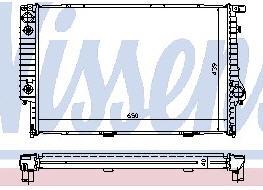 BMW E32 {E34 87-93} Радиатор охлаждения (NISSENS) (NRF) (GERI) (см.каталог) на BMW e34 (БМВ е34) - цена, наличие, описание