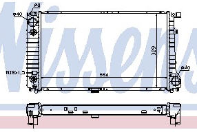 BMW E32 {E34 87-93} Радиатор охлаждения (NISSENS) (см.каталог) на BMW e34 (БМВ е34) - цена, наличие, описание