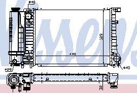 BMW E30 {E34 88-92} Радиатор охлаждения (NISSENS) (NRF) (GERI) (см.каталог) на BMW e34 (БМВ е34) - цена, наличие, описание