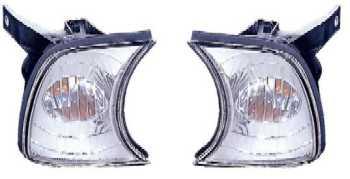 BMW E34 указатель поворота угловой левый+правый (комплект) тюнинг прозрачные внутри хром на BMW e34 (БМВ е34) - цена, наличие, описание